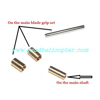 wltoys-v913 helicopter parts Copper sleeve on the main blade grip set and main shaft + Iron stick in the blade grip set